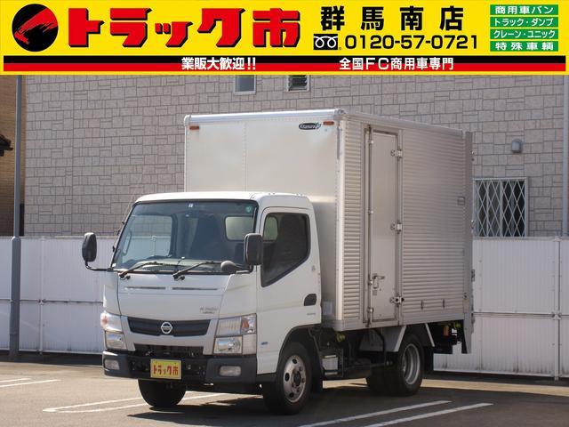 日産 2t積・アルミバン・垂直パワーゲート・ラッシング2段