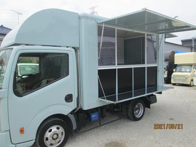 8ナンバー加工車登録済み・エアコン・コールドテーブル3ドア・発電機・走行充電システム