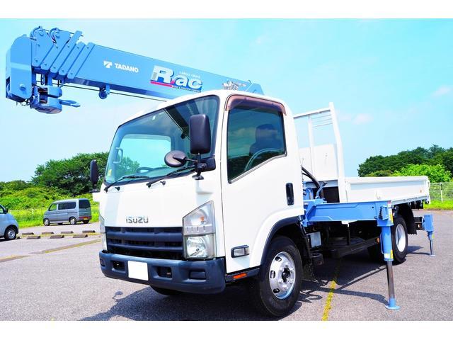 いすゞ エルフトラック  タダノTM-ZR296 6段クレーン 差し違いアウトリガー リアアウトリガー ラジコン付 積載3500kg 平ボディ