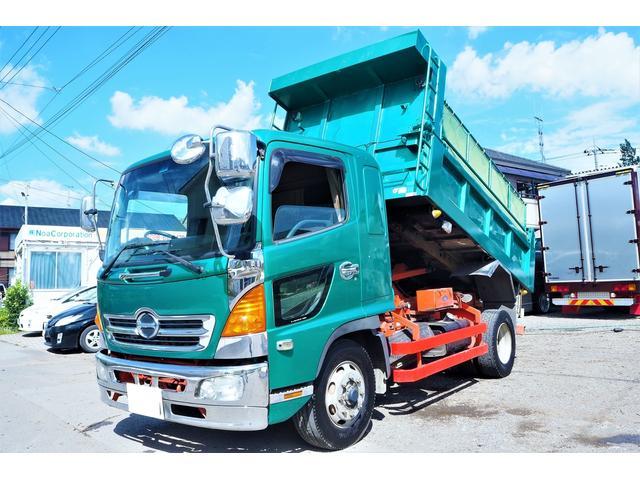 日野  増トン 積載7800kg 極東開発製ダンプ 350幅207cm 積載7800kg