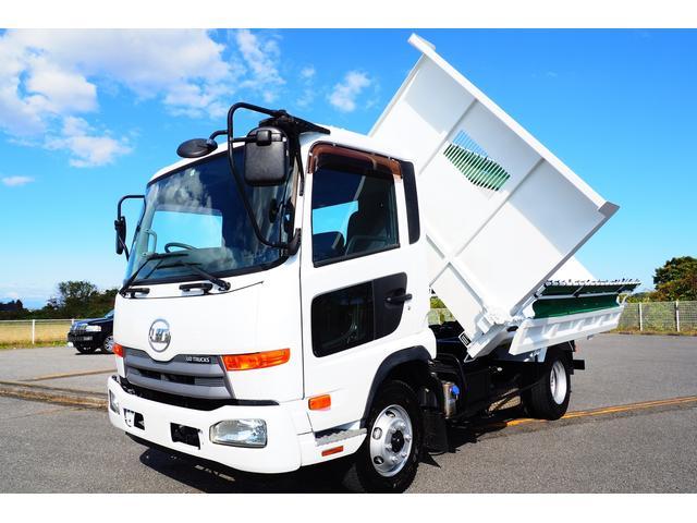 UDトラックス コンドル  三転ダンプ 新明和製 外装仕上げ済み 電動コボレーン 積載3050kg ターボ 内装クリーニング済み