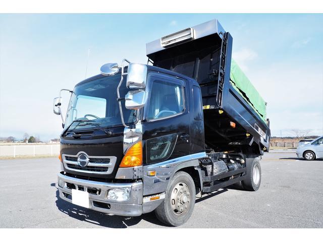 日野 レンジャー  増トン 新明和製ダンプ 積載7500kg 225馬力 荷台内寸340幅207cm