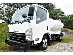 エルフトラック 外装仕上げ済み 新明和製 LS40−4F 前後式 散水車 PTO式 放水ガン付き 積載4t