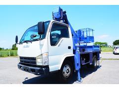 エルフトラック タダノ製 AT121 12m 格納式 高所作業車 自動格納装置 アワメーター3607時間 鉄バケット アウトリガー自動張り出し 作業床積載200kg