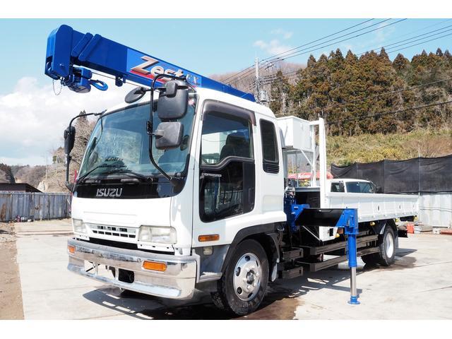 いすゞ  フォワード 3段 タダノZR303 2.9t吊り クレーン ラジコン  増トン 積載6.7t 225馬力 ベット付き 板張り ロープホール
