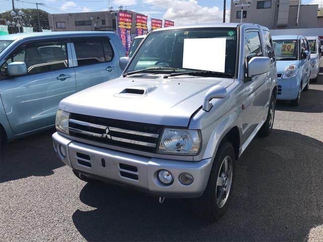三菱 パジェロミニ アクティブフィールドエディション 4WD ナビ ETC AT AC 修復歴無 AW 4名乗り オーディオ付