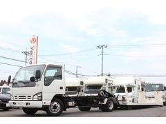 エルフトラックキャリアカー 極東製フラトップ2t積み ラジコン付き積載車