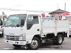 エルフトラック平ボディ2.95t積み 極東開発垂直パワーゲート荷重0.6t