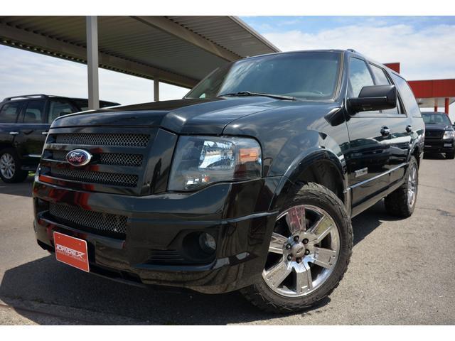 フォード エクスペディション リミテッド サンルーフ 黒革シート シートヒーター&ベンチレーション 電動格納サードシート パワーバックドア リアエンターテインメント HDDナビ ETC バックカメラ