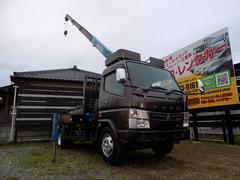 キャンター4段式クレーン ラジコン付き 最大積載量3750kg ロング