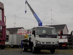 エルフトラック2トン 平ボディ ワイド ロング 4段クレーン ラジコン付き