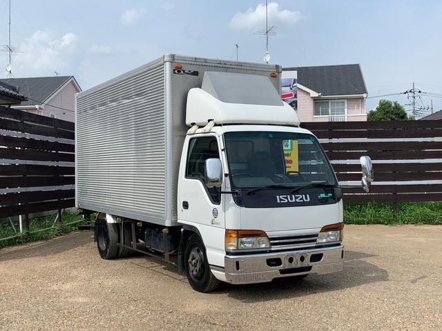 いすゞ エルフトラック 2トン アルミバン ロング パワーゲート付き Bカメラ