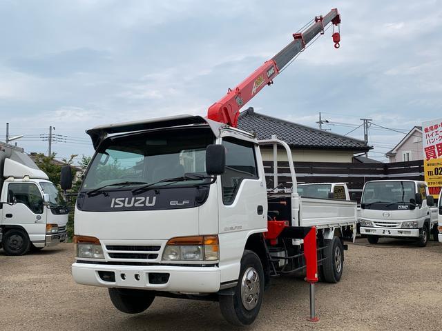 いすゞ エルフトラック 2トン 4段クレーン ラジコン 全長601cm 幅188cm