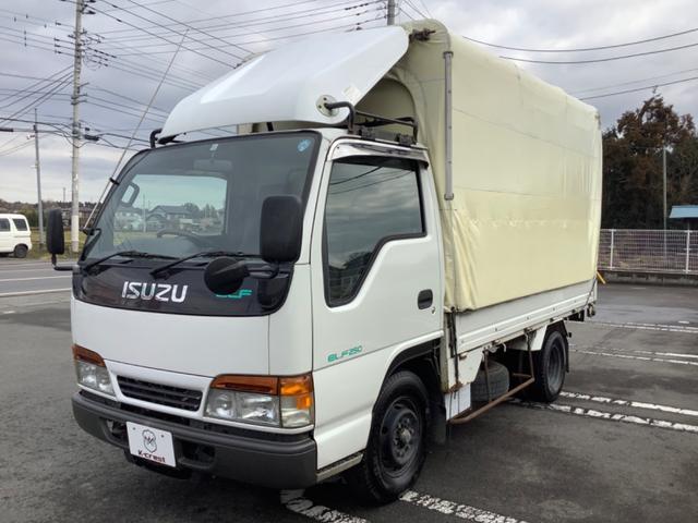 いすゞ エルフトラック 2t積ホロウイング 5MT車