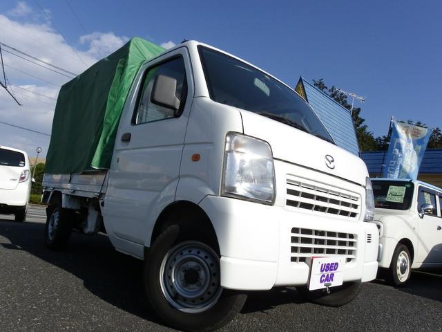 マツダ スクラムトラック KCスペシャル軽トラック4WDMT幌付...
