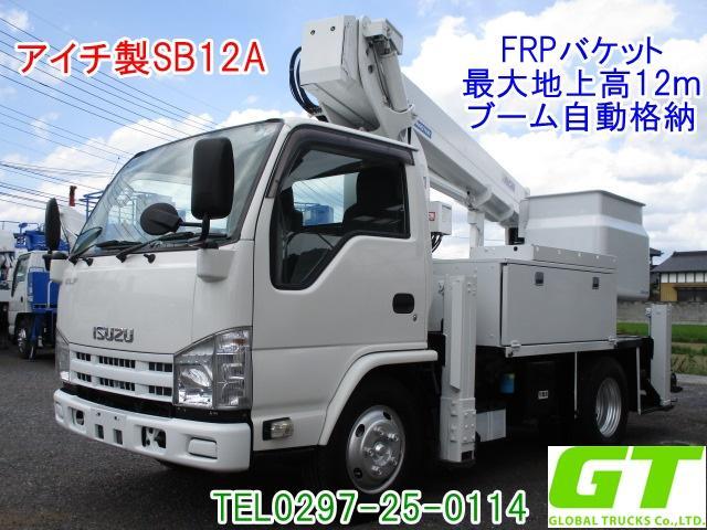 いすゞ アイチ 12m 高所作業車 SB12A FRPバケット