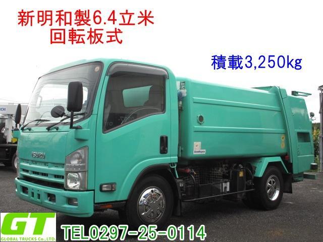 いすゞ 積載3.25t 6.4立米 回転式 ダンプ式 パッカー