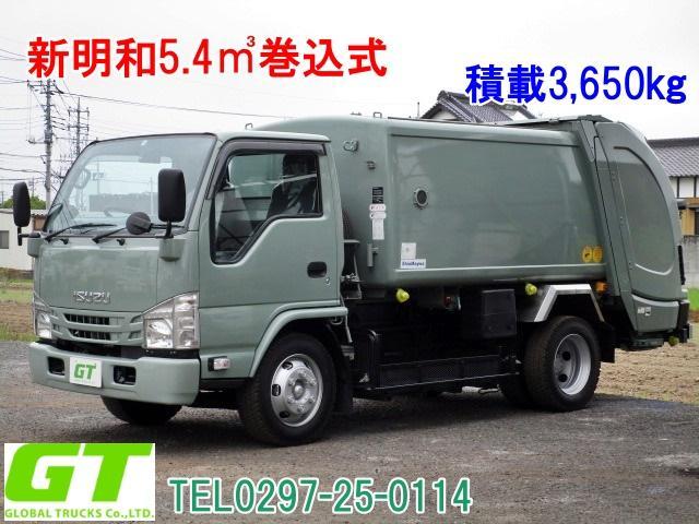 いすゞ エルフトラック 積載3.65t 新明和 5.4立米 巻込式 塵芥車