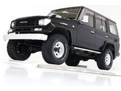 ランドクルーザープラドSXワイド 4WD リフトUP ブラックレザー調シートカバー