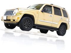 クライスラージープ チェロキーリミテッド 4WD HDDナビ CD ETC 本革電動シート