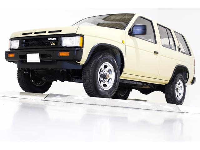 日産 テラノ V6-3000 R3M セレクションV 4WD 新品タイミングベルト交換済 新品ウォーターポンプ交換済 ナローボディ仕様 US仕様コーナーランプ 純正15インチメッキホイール 背面レス仕様車 エアコン吹き出し口枠交換済 サンルーフ