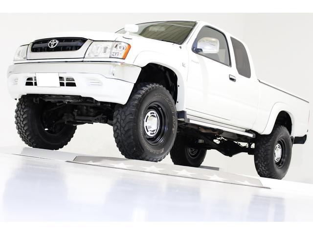 トヨタ エクストラキャブ ワイド 4WD リフトアップ ハードトノカバー ヴィンテージ16インチアルミホイール リアクロームメッキステップバンパー プロジェクターヘッドライト LEDクリスタルコンビテールランプ ナビ ディーゼル