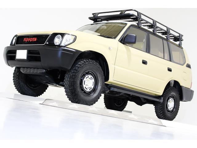 トヨタ TXリミテッド 4WD ナロー仕様 丸目仕様 ヴィンテージグリル ヴィンテージ16インチアルミホイール ルーフラック サンルーフ ベージュレザー調シートカバー LEDイカリングヘッドライト 3列シート 8人乗り