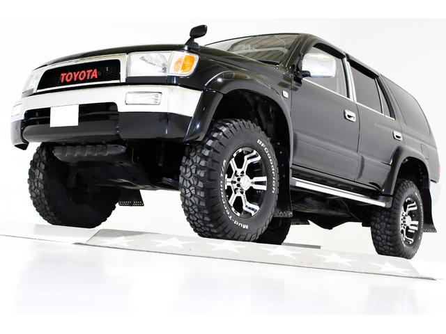 トヨタ ハイラックスサーフ SSR-X ワイド 4WD リフトアップ ヴィンテージグリル ブラックレザー調シートカバー 前後クロームメッキバンパー MKW16インチアルミホイール 社外マフラー メモリーナビ TV ETC HIDヘッドライト