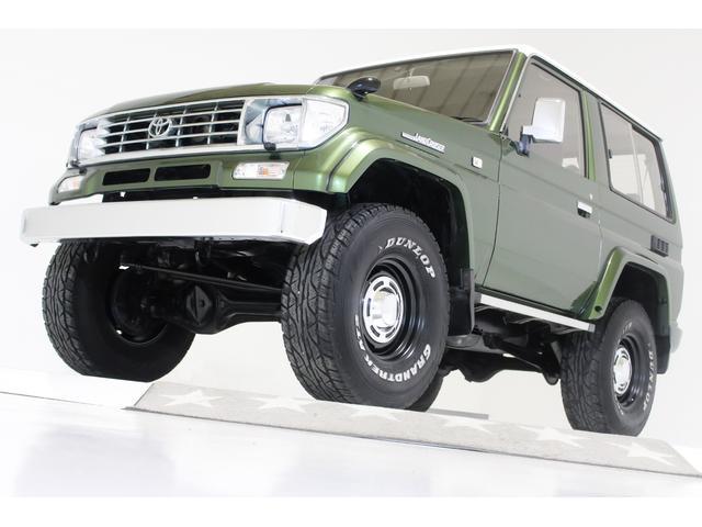 トヨタ ランドクルーザープラド SXワイド SXワイド 4WD 3インチリフトアップ NOX/PM規制解除済 全国登録可能 タイベル交換済 ヴィンテージ16インチアルミホイール 70仕様クロームメッキバンパー 背面ソフトタイヤカバー ETC付き