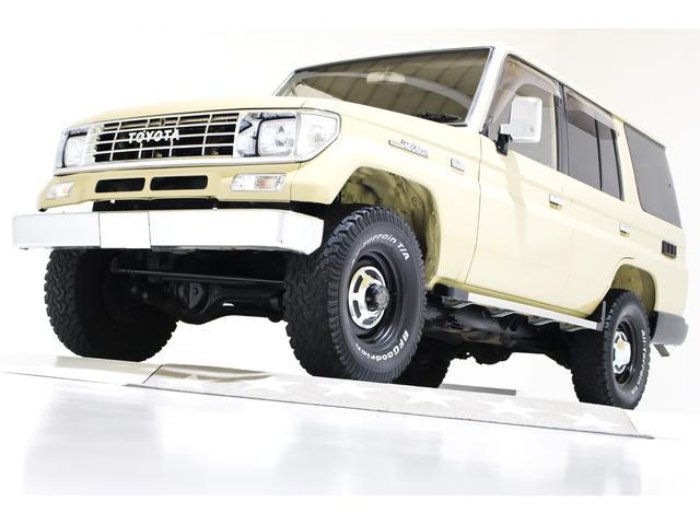 トヨタ ランドクルーザープラド EX5 4WD リアデフロック付 タイミングベルト交換済 ナローボディ 輸出仕様15インチホイール ブラックレザー調シートカバー キーレス 電動サンルーフ オールクロームメッキグリル ウッドコンビステアリング