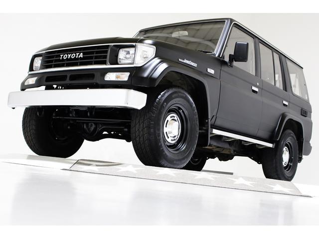 トヨタ ランドクルーザープラド EXワイド 4WD タイミングベルト交換済 ヴィンテージ16インチアルミホイール ブラックレザー調シートカバー ハード背面タイヤカバー キーレス 電動サンルーフ CD AUX 寒冷地仕様車 1ナンバー登録可能