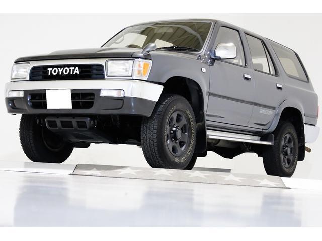 トヨタ ハイラックスサーフ SSR-X 4WD ナローボデイ タイミングベルト交換済 ヴィンテージエンブレム 背面レス仕様車 前後クロームメッキバンパー リアヒーター付き エアコンR134aレトロフィット対策済 ディーゼルターボ車