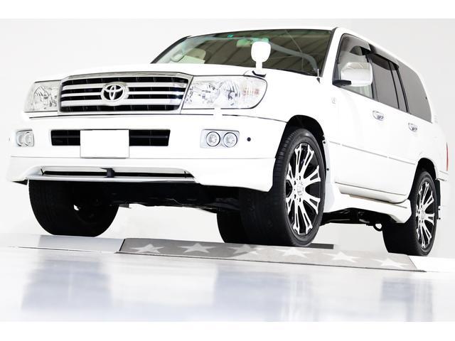 トヨタ ランドクルーザー100 VXリミテッド 4WD シートヒーター COOL BOX付 22インチアルミホイール フロントスポイラー リアスポイラー ルーフスポイラー サイドスポイラー ナビ TV CD Bluetooth ETC バックカメラ