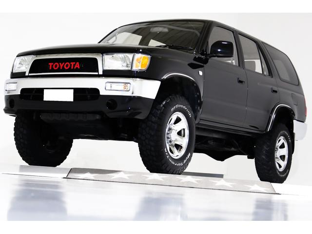 トヨタ ハイラックスサーフ SSR-X 4WD 純正ナローボディ リフトアップ ヴィンテージグリル 前後クロームメッキバンパー 16インチクロームメッキホイール ブラックレザー調シートカバー LEDテールランプ US仕様コーナー キーレス