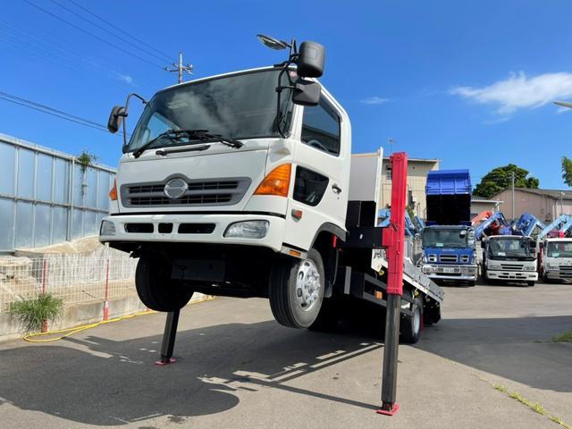 日野 レンジャー  セルフクレーン 3段 フックイン ラジコン付 新品強化 ワイドボデイ 増トン車