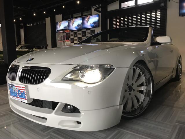 BMW 645Ciカブリオレ 社外エアサス アシャンティ22ホイール