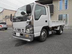エルフトラック3t4ナンバー全低床強化ダンプ  メッキ架装有
