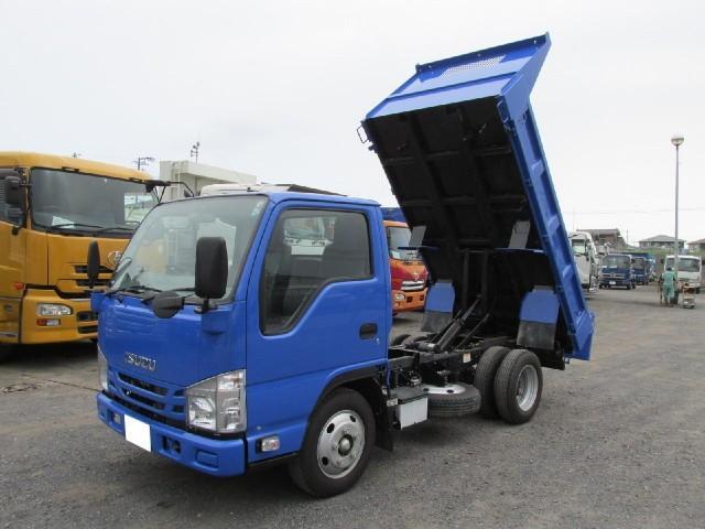 いすゞ エルフトラック 強化フルフラットローダンプ 3tフルフラットロー強化ダンプ 4ナンバー車