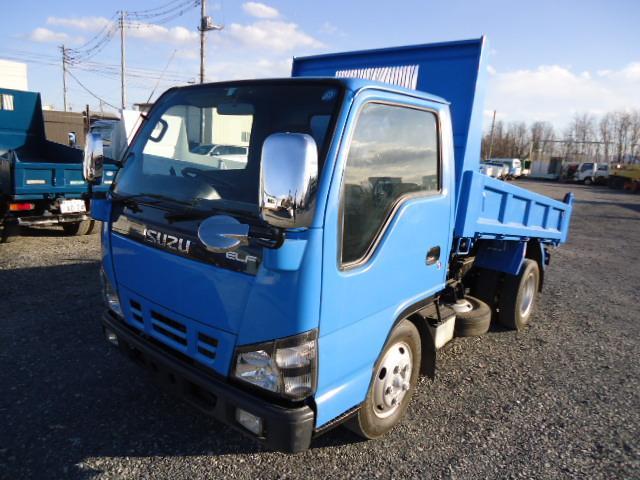 いすゞ エルフトラック フルフラットローダンプ 3トンダンプ低床強化