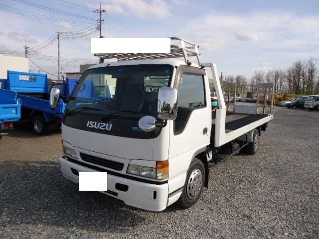 いすゞ エルフトラック 超ロング 積載車超ロング3200KGタダノ製ラジコン付排気ガス適合マフラ付証明有