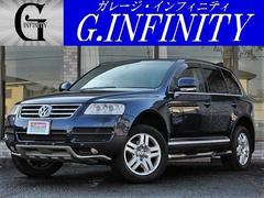 VW トゥアレグV6・本革・純HDDナビ・Bカメラ・記録簿・ETC・純AW