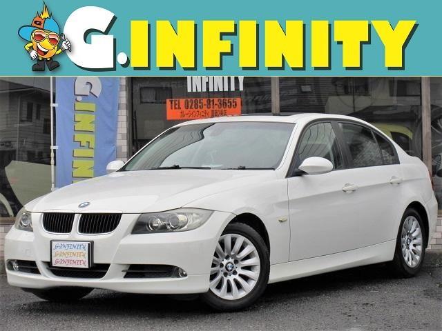 BMW 320i 電動サンルーフ・社外HDDナビ・フルセグTV・電動シート・純正16AW・エンジェルアイ・Fフォグ・ETC・キーレス・本革巻ステア・マニュアルモード・タイミングチェーン