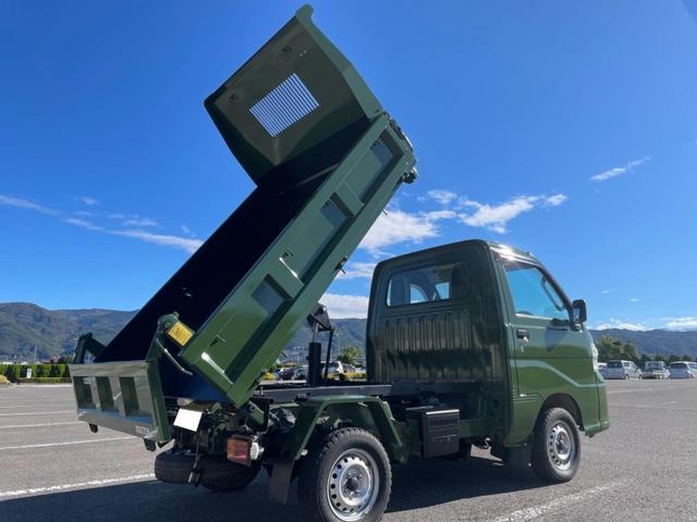 ダイハツ ハイゼットトラック 多目的ダンプ 多目的ダンプ PTO 4WD H ・L切替式 3方開 エアコンパワステ デフロック 純正オプションカラー
