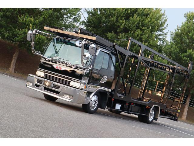 積載車 3台積み キャリアカー ワイドロング ベッド付き(1枚目)