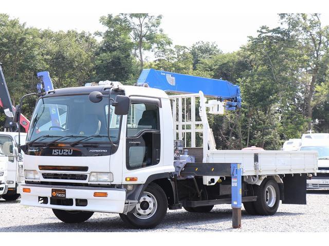 いすゞ フォワード  タダノ5段クレーン ラジコン フックイン 積載2.65t 車両総重量7995kg 差違アウトリガー NOX適合