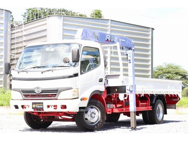 日野 デュトロ タダノセルフ4段クレーン ハイジャッキ 積載3750kg