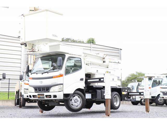 トヨタ ダイナトラック  タダノ高所作業車 AT146TE 14.6m 電工仕様 サブバッテリー 積載750kg 車両総重量7985kg ETC バックカメラ DPF ES 左電各ミラー ヘッドライトレベライザー