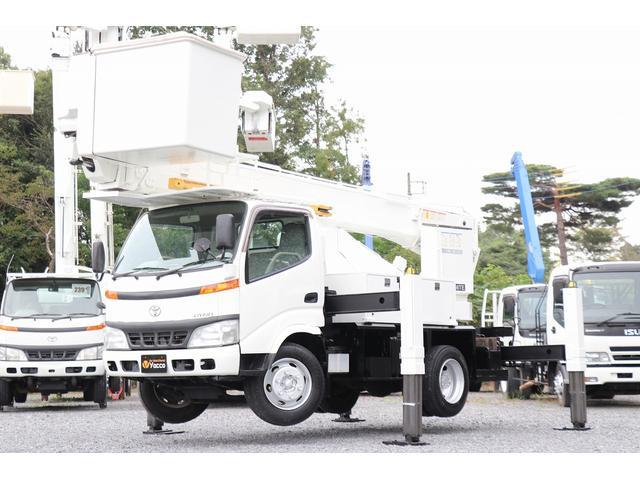 トヨタ ダイナトラック  タダノ高所作業車 AT146TE 電工仕様 自動格納 作業床高14.6m サブエンジン 車両総重量7535kg 左電各ミラー ESスタート DPD ヘッドライトレベライザー