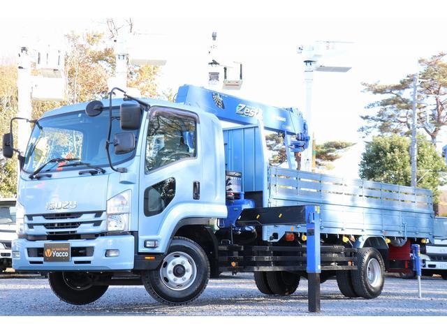 いすゞ  タダノ6段クレーン ラジコン フックイン 2.93t吊り リアアウトリガー 増トン 積載4300kg 車両総重量10985kg ナビ Bカメラ ETC キーレス 1オーナー