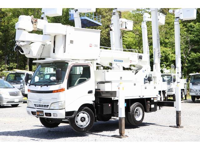 トヨタ  アイチ高所作業車 SN15B 14.6m 電工仕様 自動格納 バケット昇降 積載500kg 車両総重量7855kg 左電各ミラー ES DPD ヘッドライトレベライザー ETC ドライブレコーダー